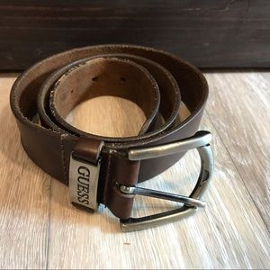 Guess Accessories - Brown leather Guess belt
